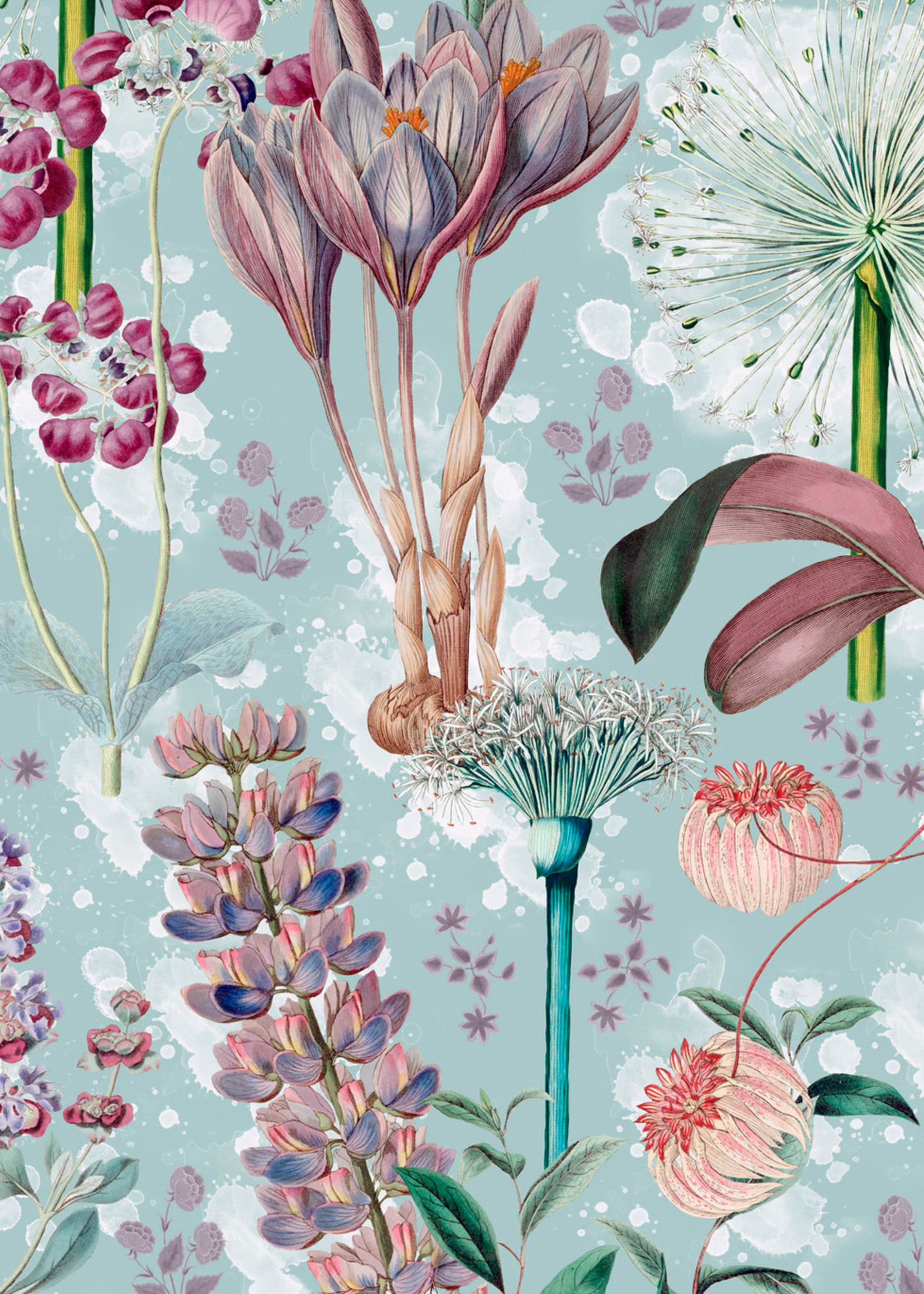 MINDTHEGAP Designer Wallpaper GARDEN OF EDEN Aquamarine