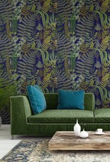 MINDTHEGAP Designer Wallpaper GREEN SANCTUARY Anthracite