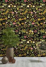 MINDTHEGAP Designer Wallpaper ASIAN FRUITS AND FLOWERS Anthracite