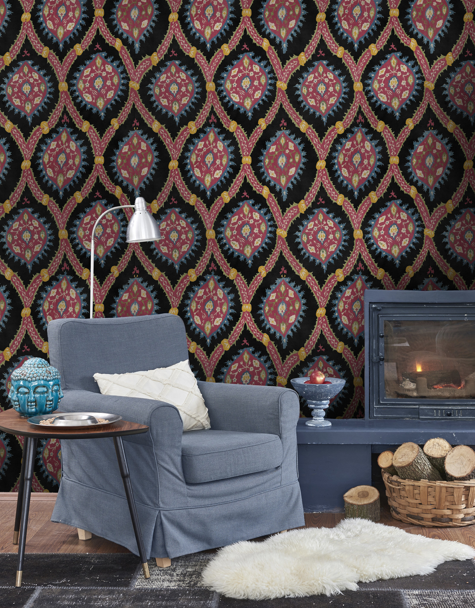 MINDTHEGAP Designer Wallpaper OTTOMAN Anthtracite