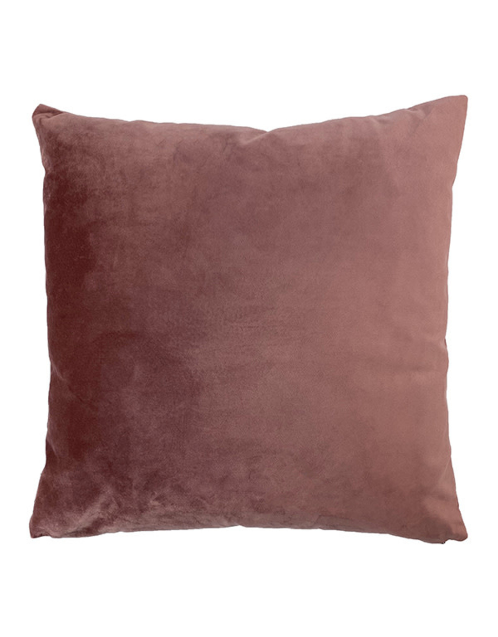 Vanilla Fly VELVET CUSHION - 50X50 - RHUBARB