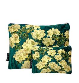 Vanilla Fly MAKEUP BAG & POUCH VELVET - fleurcreme