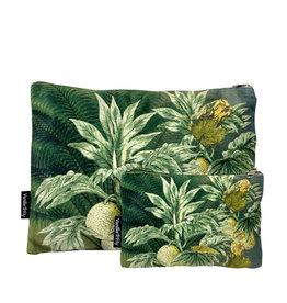 Vanilla Fly MAKEUP BAG & POUCH VELVET - green