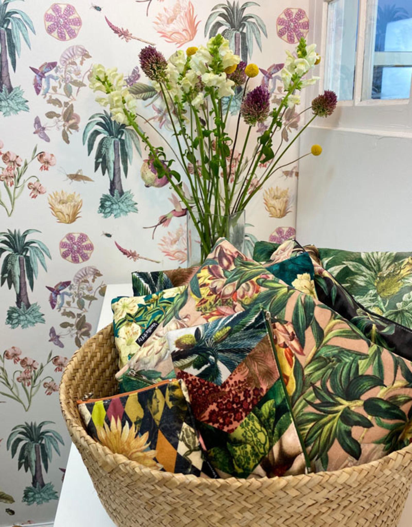 Vanilla Fly MAKEUP BAG & POUCH VELVET - fleurjaune