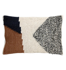 HKliving Cushion knotted autumn multicolour