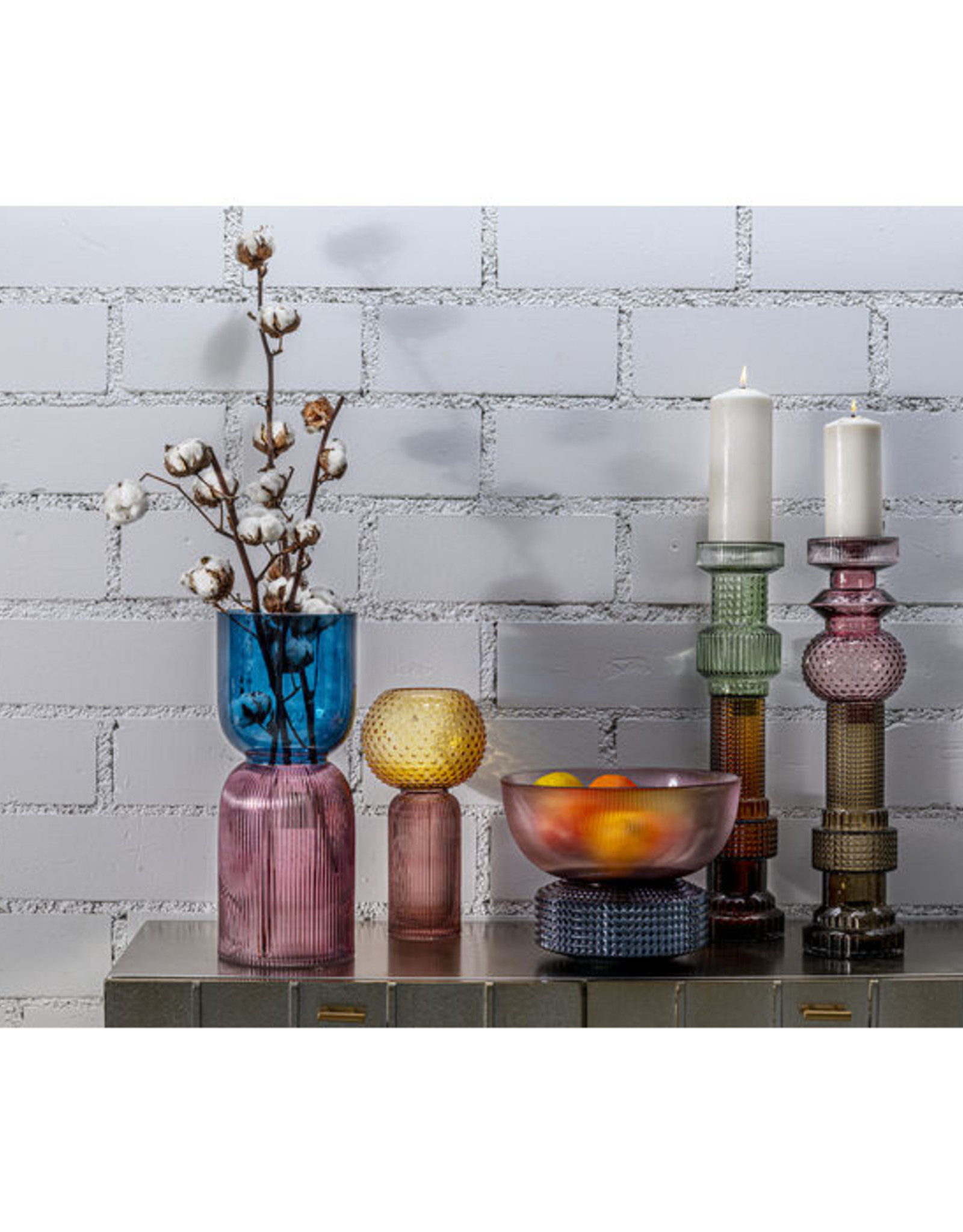KARE DESIGN Candle Holder Marvelous Duo Purple Grey