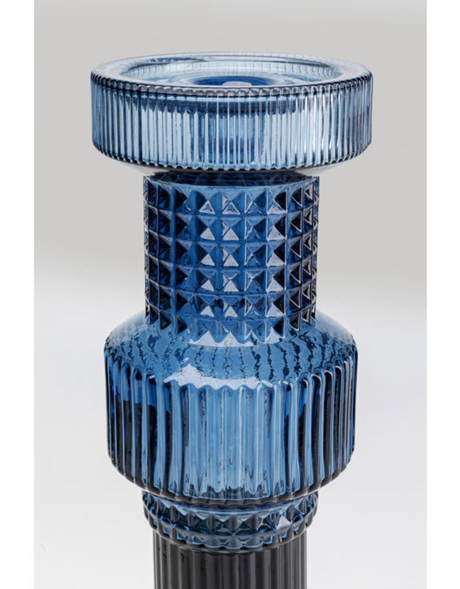 KARE DESIGN Candle Holder Marvelous Duo Blue Smoke