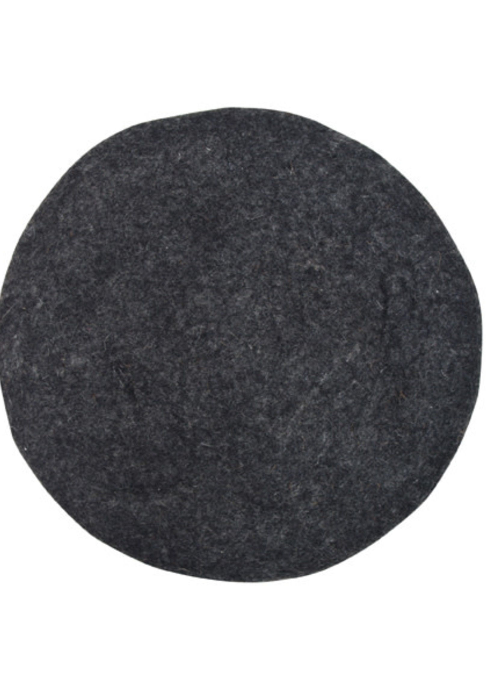 HKliving Felt seat cover charcoal