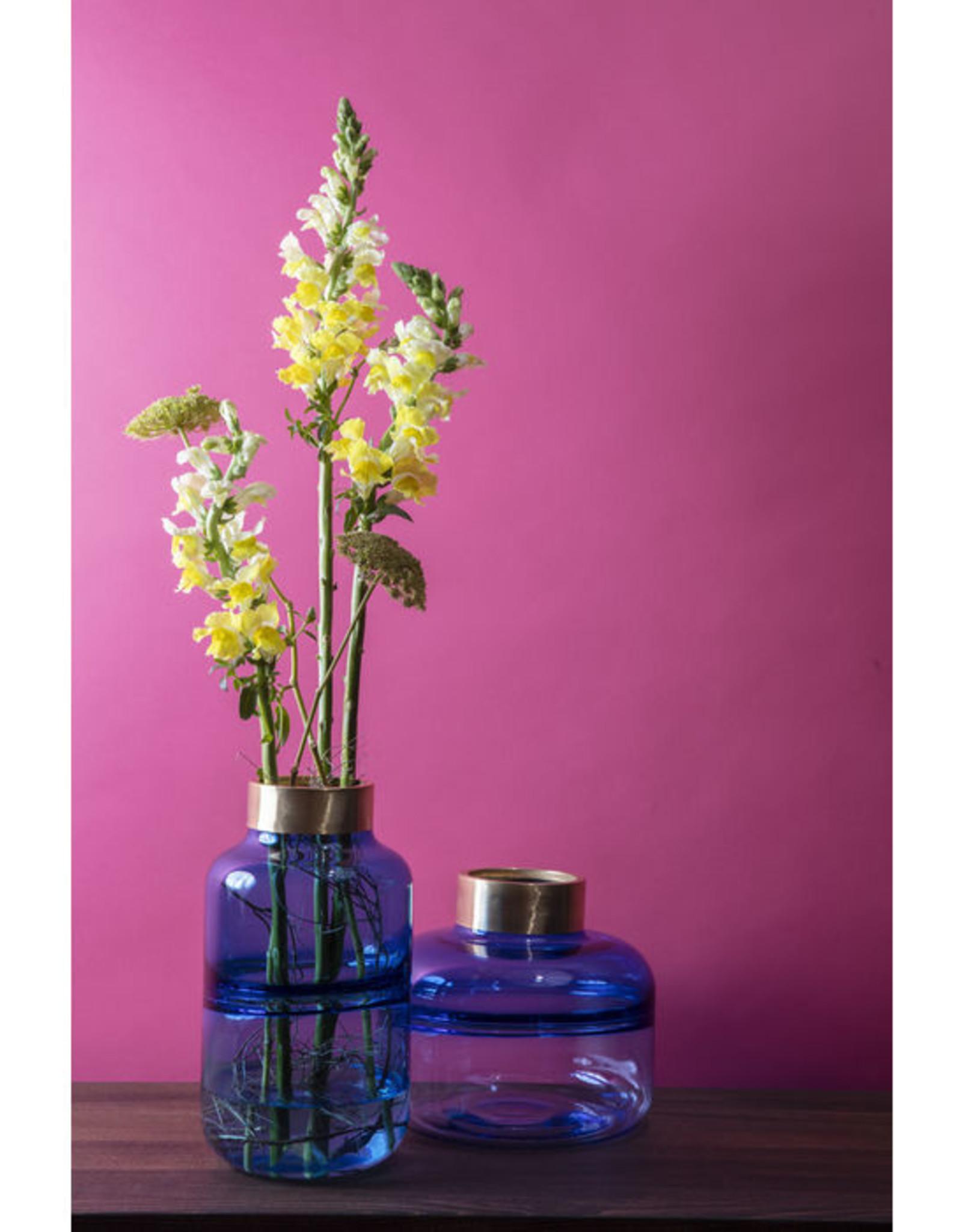 KARE DESIGN Vase Positano Belly Blue 21 cm