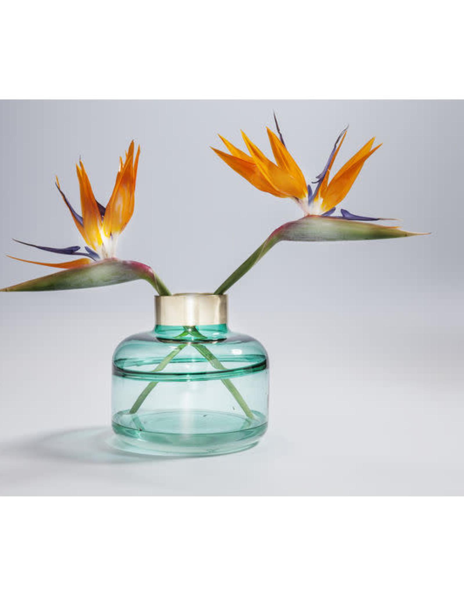 KARE DESIGN Vase Positano Belly Green 21 cm