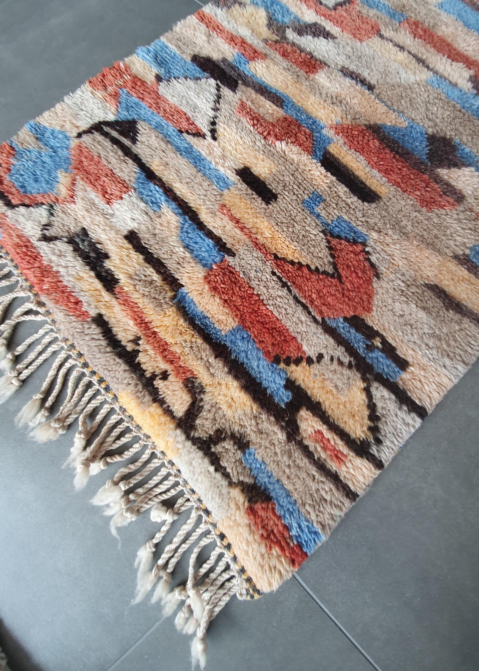 Authentiek berber tapijt, Marokko,100% wol,  210 x 80 cm