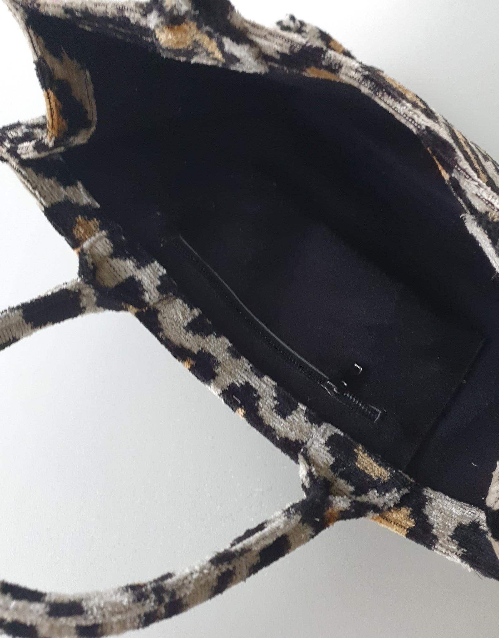 Ikat silk velvet tote bag 3