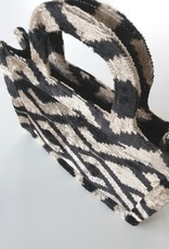 Ikat silk velvet MINI TOTE BAG 1