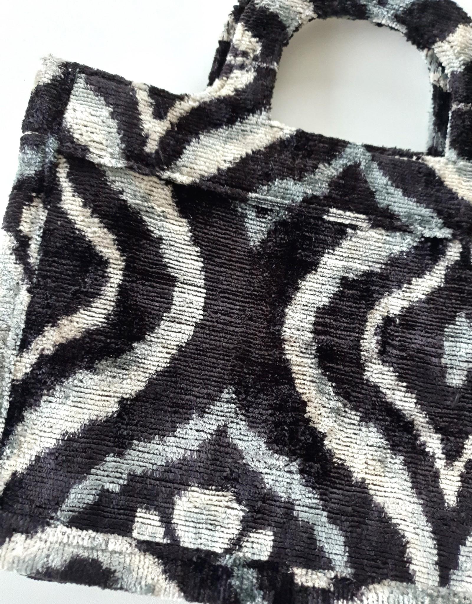 Ikat silk velvet MINI TOTE BAG 2