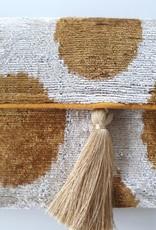 Ikat silk velvet clutch 4