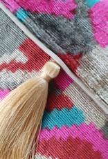 Ikat silk velvet clutch 2