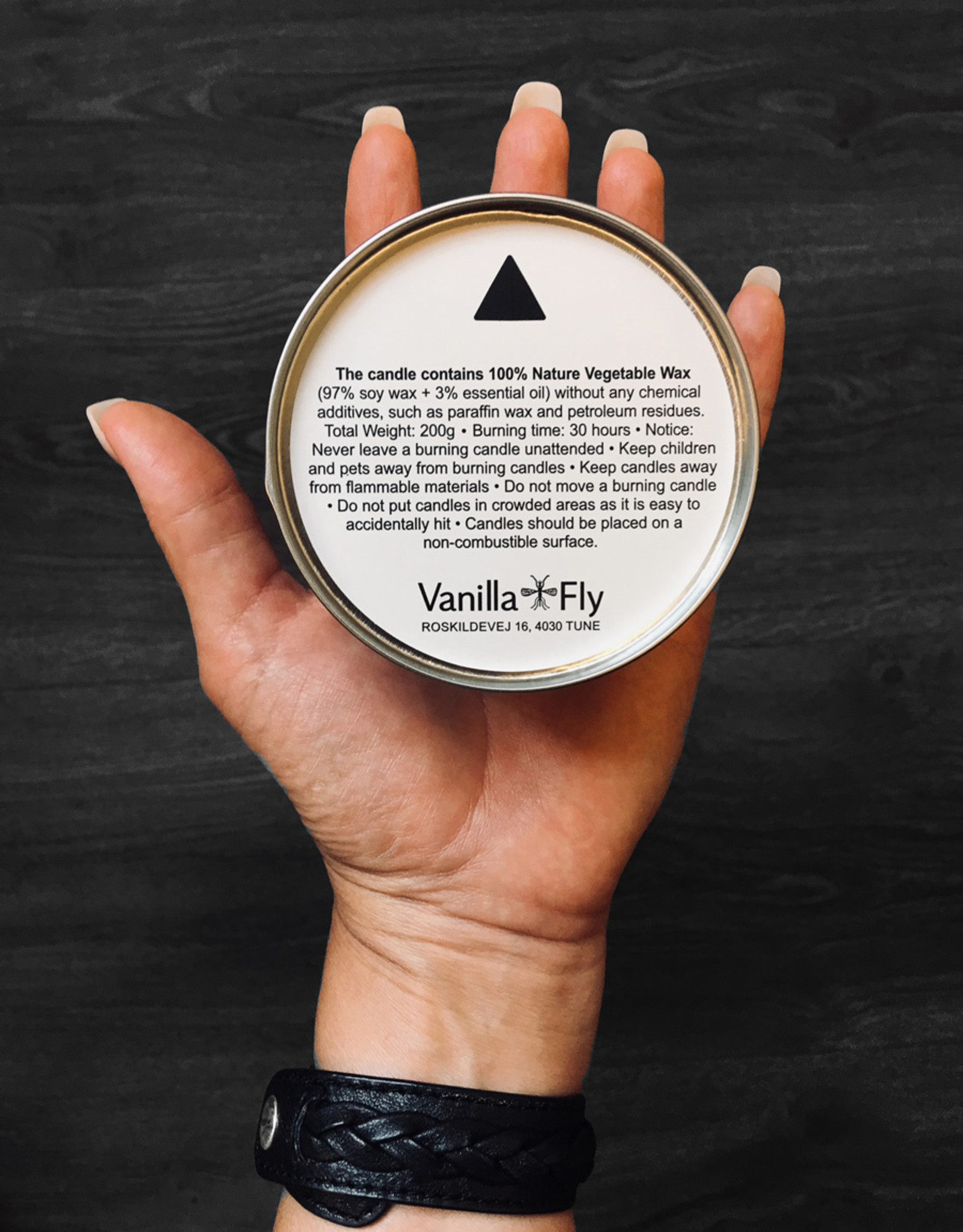 Vanilla Fly SCENTED CANDLE - SOY WAX - green tea