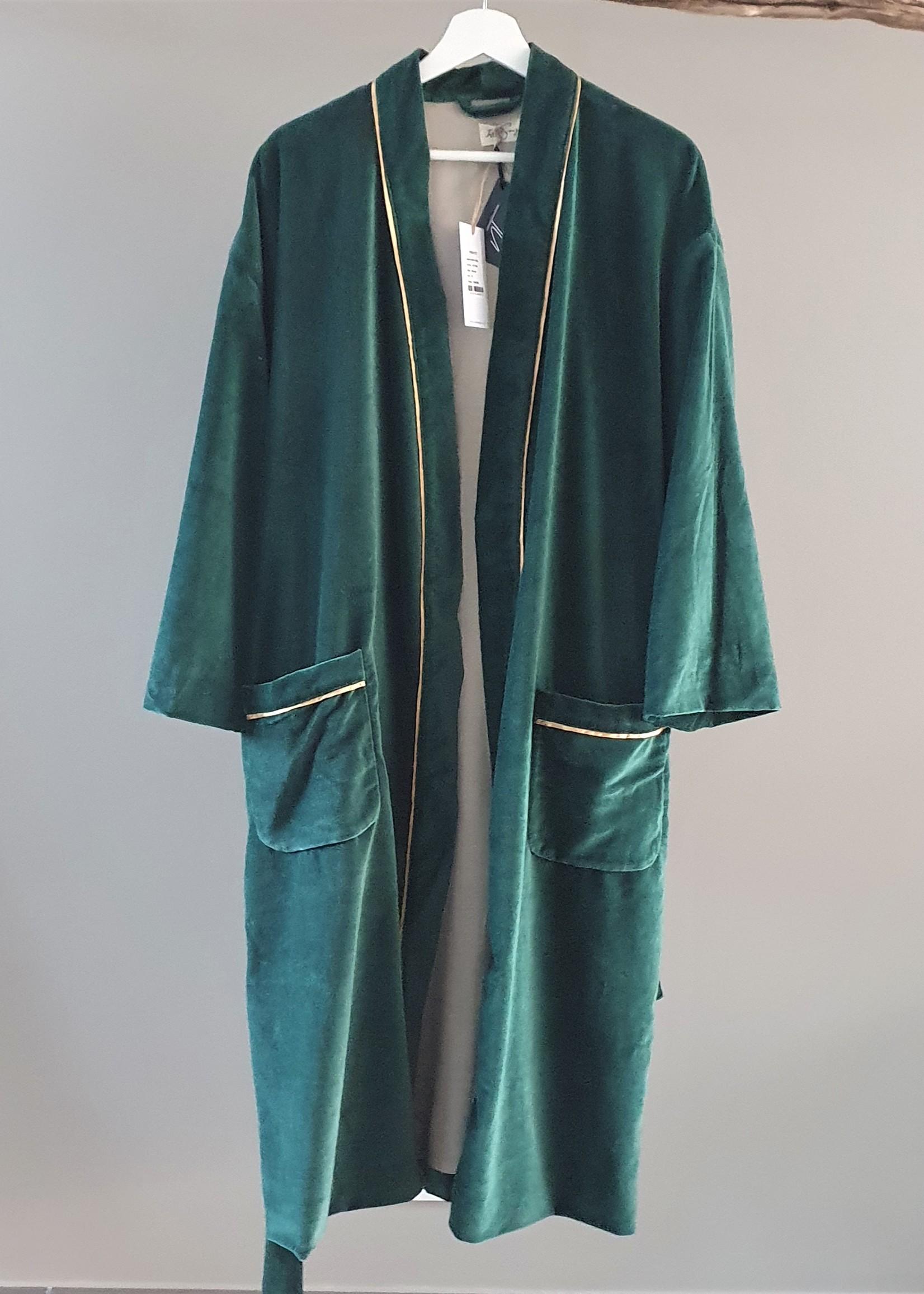NAMASTE Kimono velours CANARD