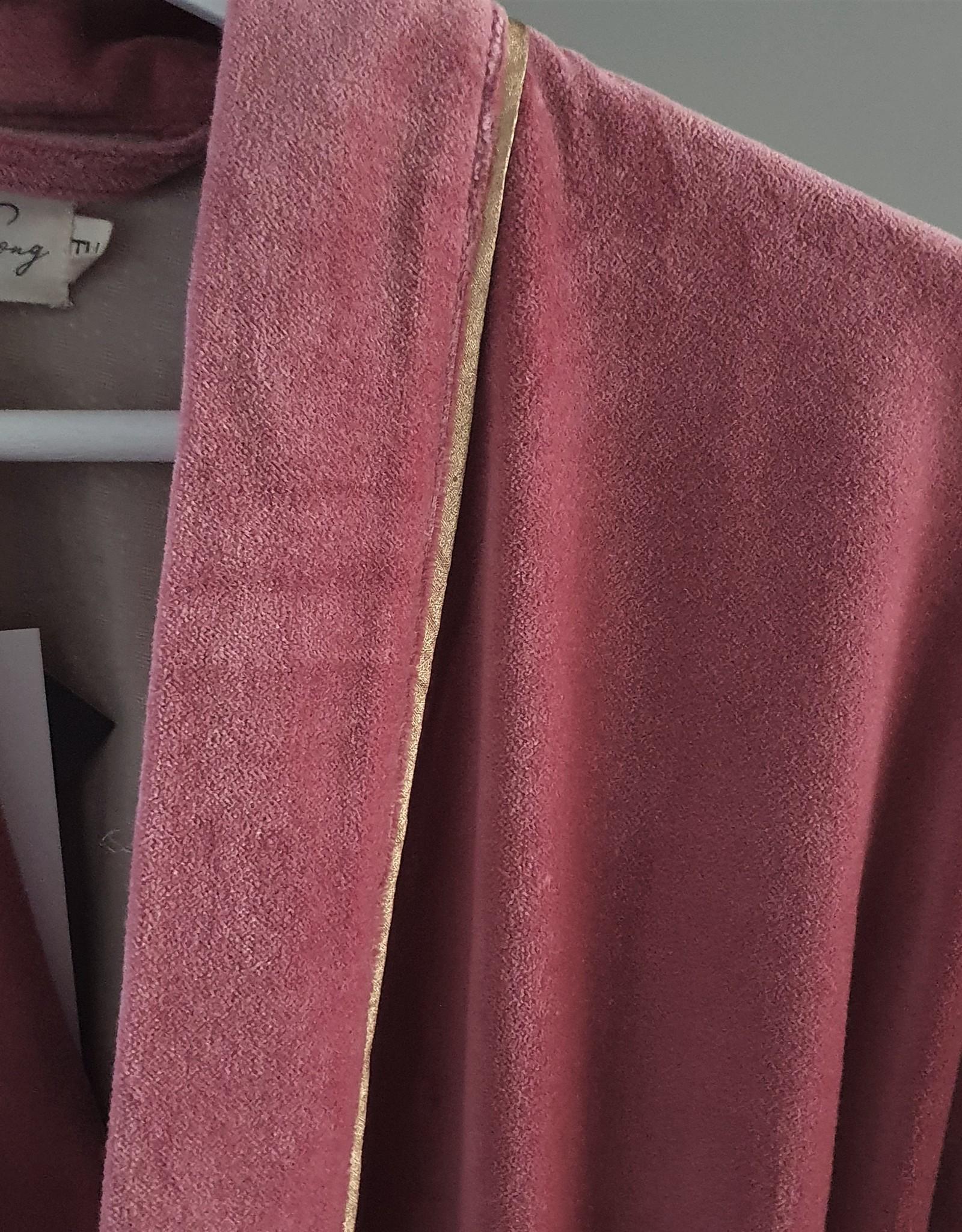NAMASTE Kimono velours ROSE