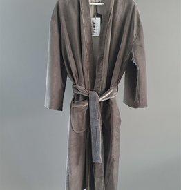 NAMASTE Kimono velours ZINC