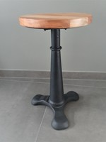 *SOLD* Industrial Singer stool, black, replica