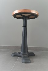 Industrial Singer stool, black, replica