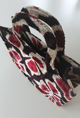 Ikat silk velvet MINI TOTE BAG 5
