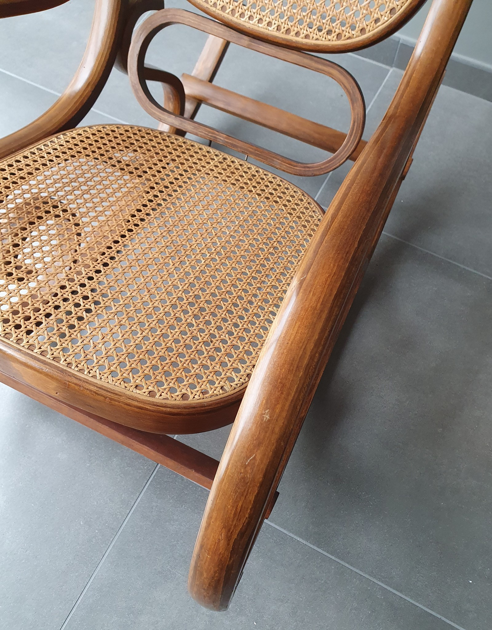 Vintage rocking chair Thonet style, 60-70s