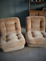 *SOLD* A  pair of Orchid chairs by Michel Cadestin  for Airborn- 1970S