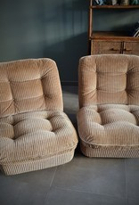A PAIR OF ORCHID ARMCHAIRS BY MICHEL CADESTIN FOR AIRBORNE - 1970S