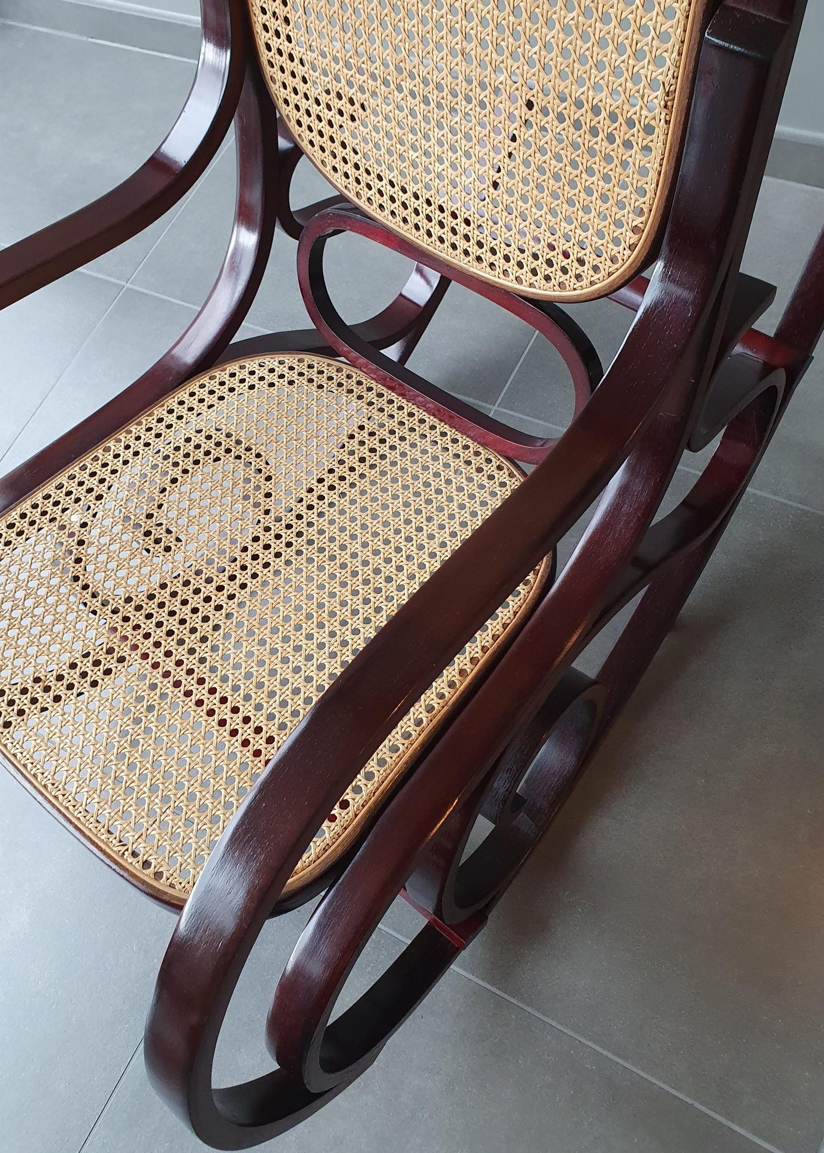 Vintage rocking chair Thonet style, tweede helft  20e eeuw