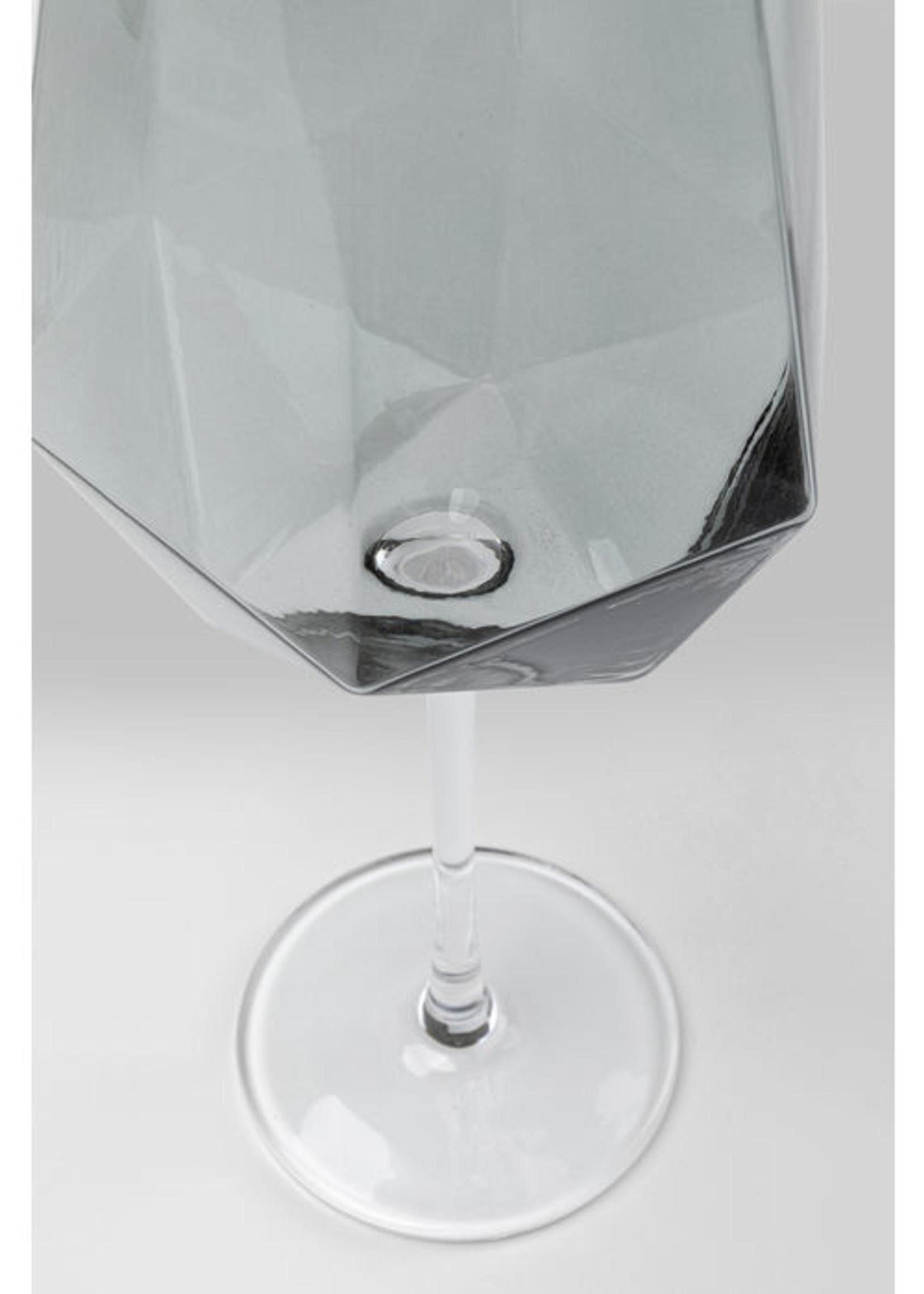 KARE DESIGN Wine Glass Diamond Smoke