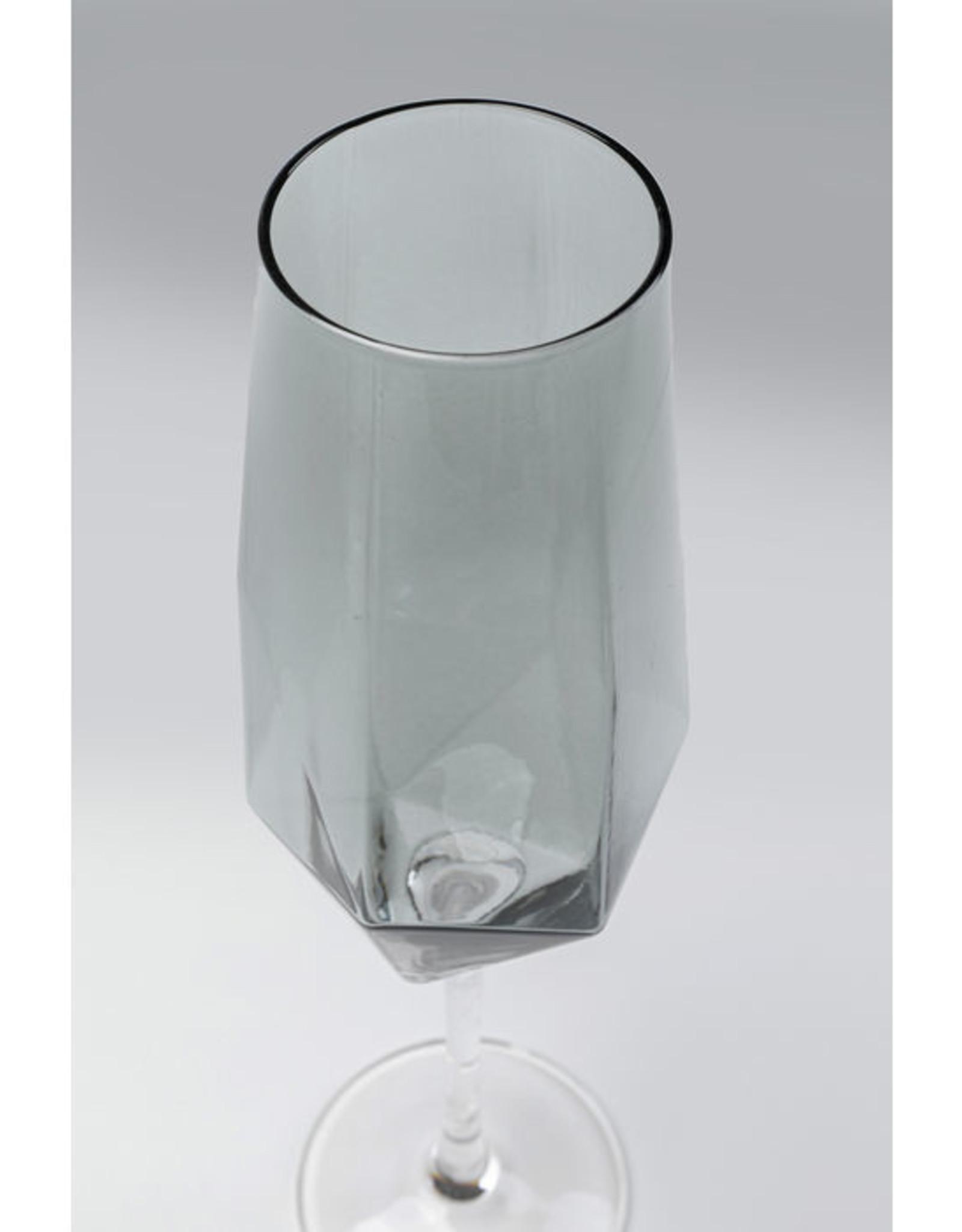 KARE DESIGN Champagne Glass Diamond Smoke