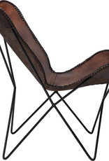 KARE DESIGN Armchair Butterfly Brown Econo