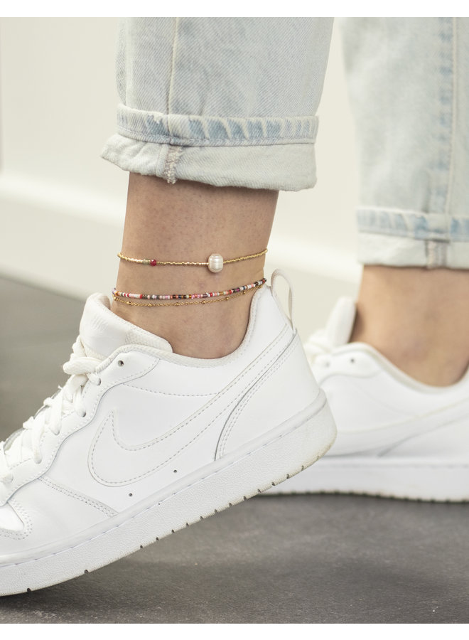 SIMPLE PEARL GOLDEN ANKLET