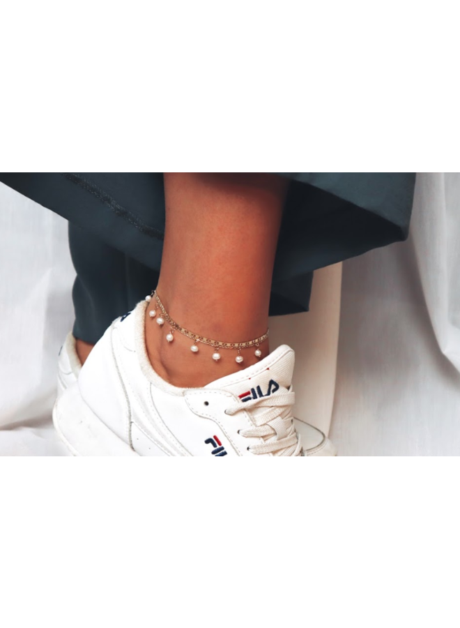 9 PEARL STAINLESS STEEL ANKLET