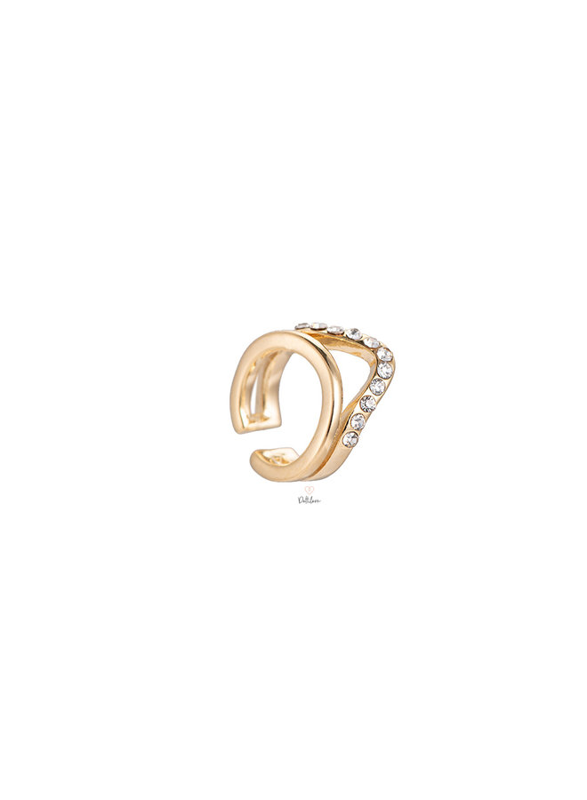 CROWN PLATED EARCUF
