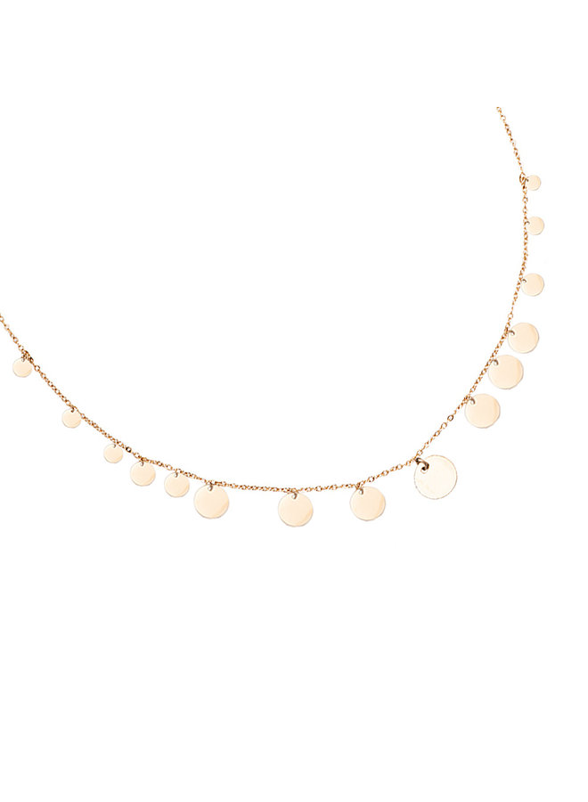MULTIPLE PLATED NECKLACE - GOLD