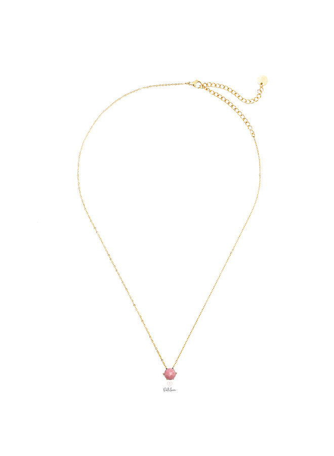 LEA STAINLESS STEEL NECKLACE - PINK
