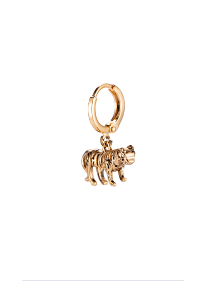 BIG TIGER PLATED EARRING