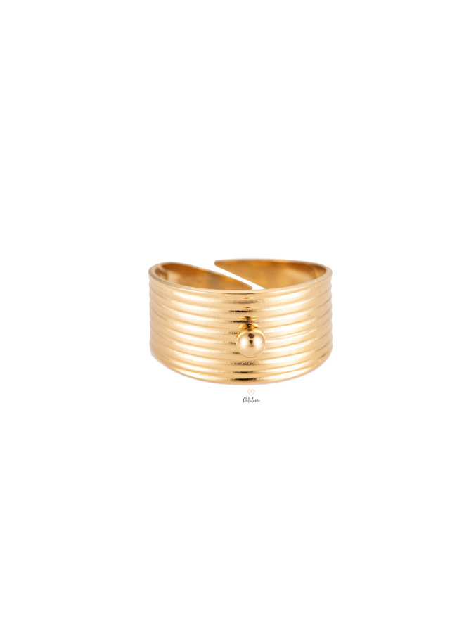 OPENING STAINLESS STEEL RING - GOLD