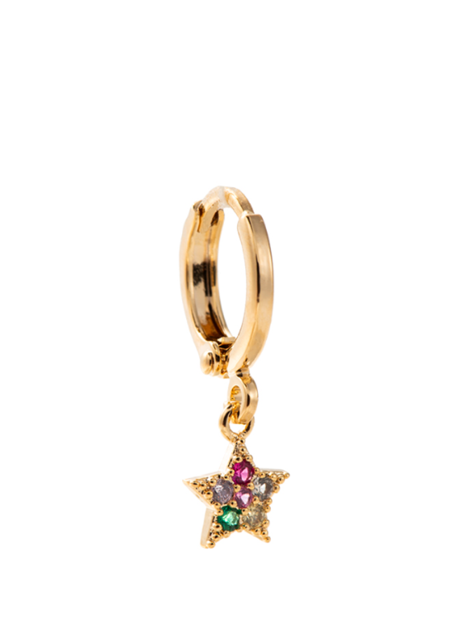 LITTLE STAR PLATED EARRING