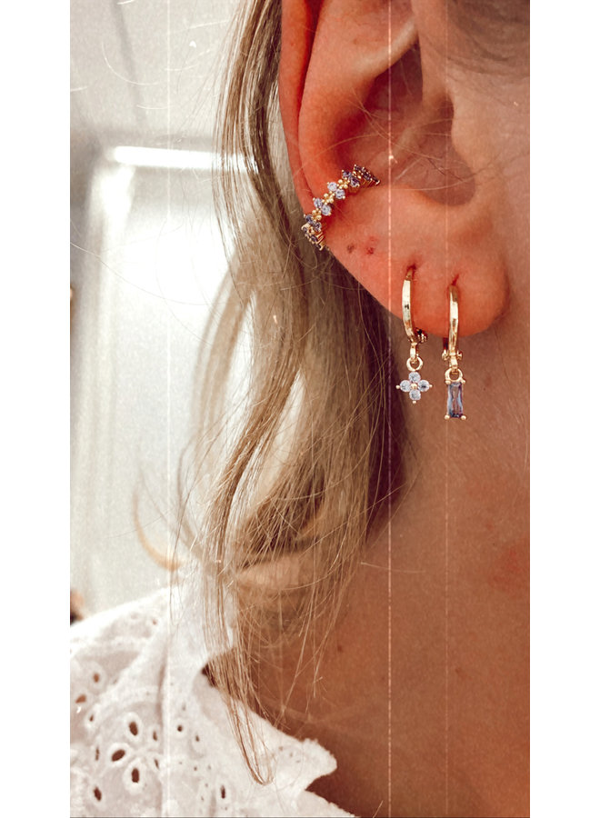 TINY FLOWER EARRING - LILAC