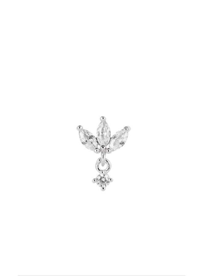 JODIE PLATED EARRING - SILVER