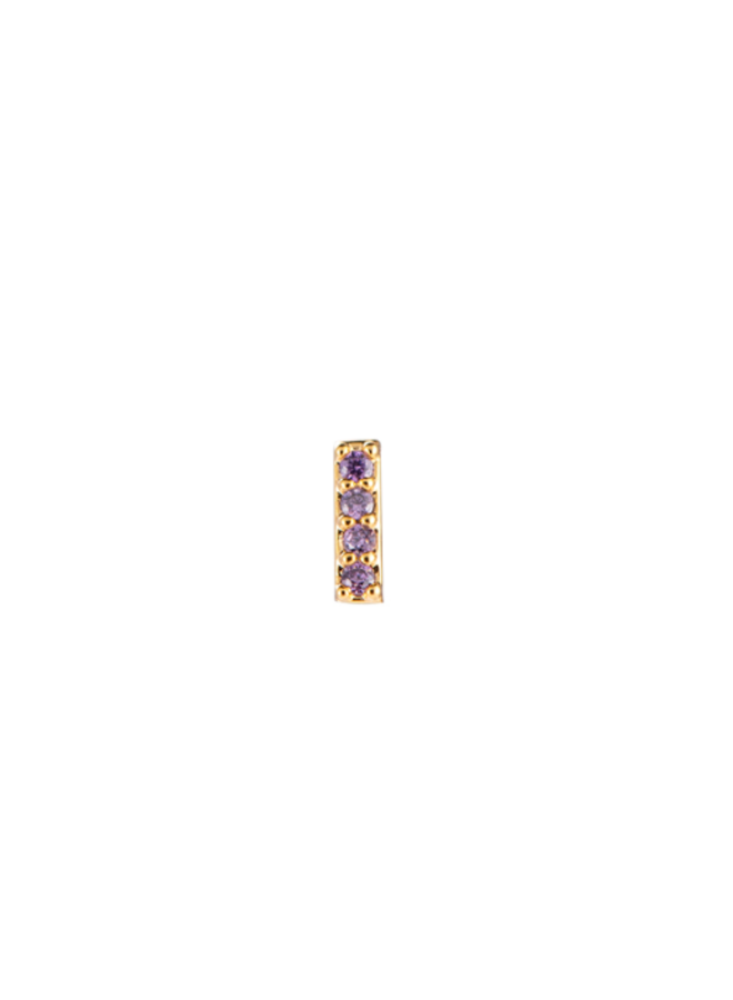 CHLEO PLATED EARRING - LILAC
