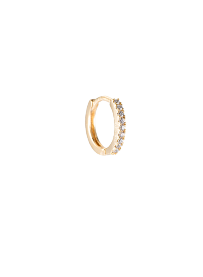 SHINING HOOP PLATED EARRING - GOLD