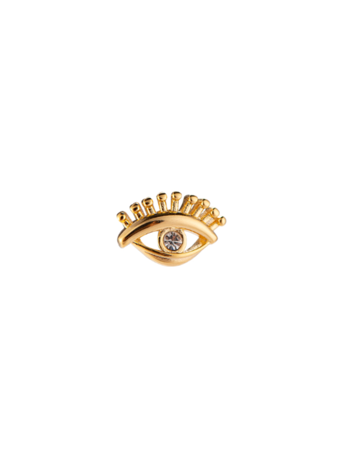 QUEEN EYE PLATED EARRING