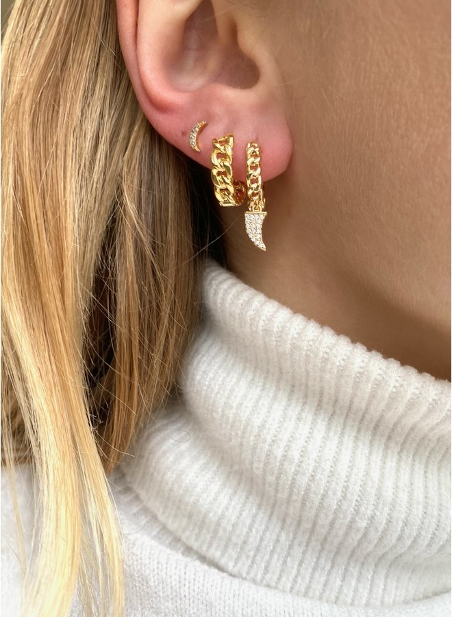 SIMPLE CHAIN STAINLESS STEEL EARRING