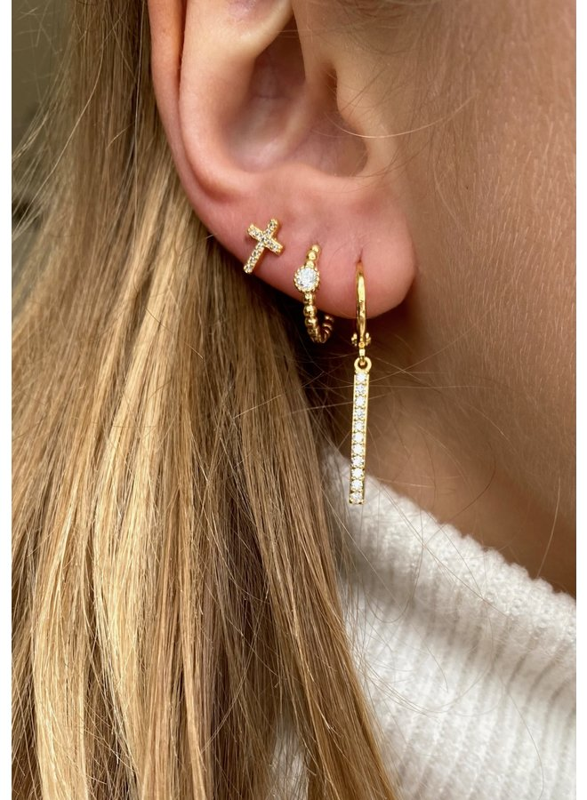 HERA PLATED EARRING