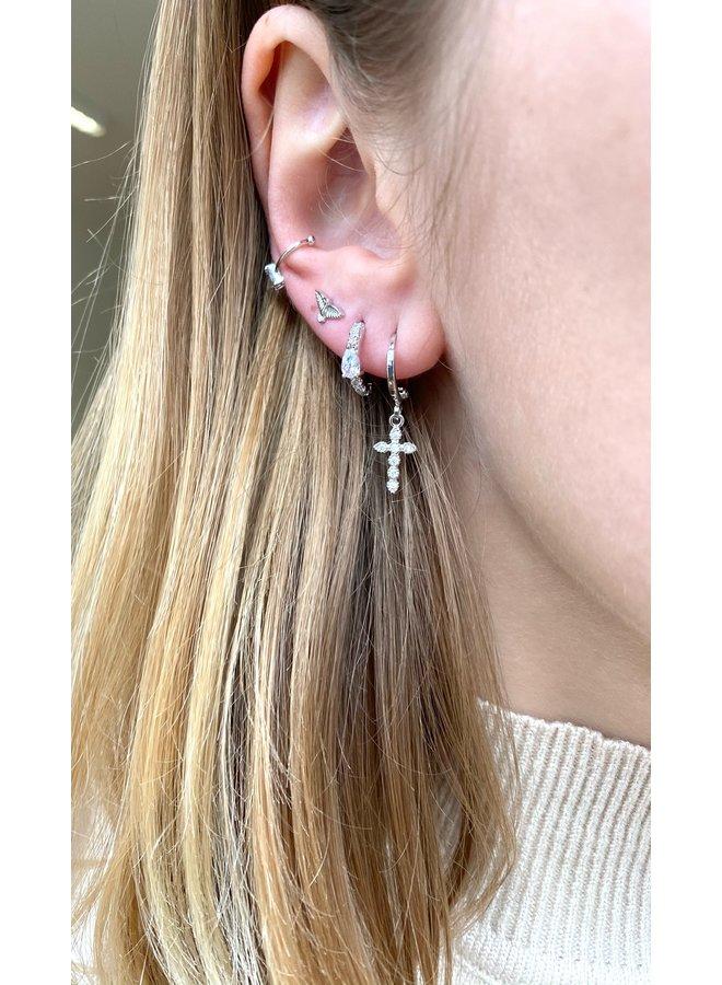 UMA PLATED EARRING - SILVER
